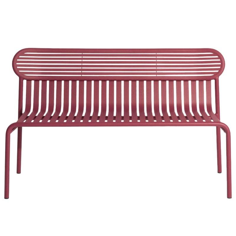 Petite Friture Week-end bench, burgundy