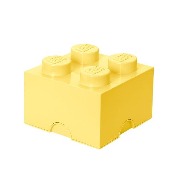 Room Copenhagen Lego säilytyslaatikko 4, pastellinkeltainen