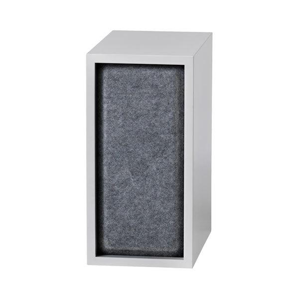 Muuto Stacked acoustic panel, small, grey melange