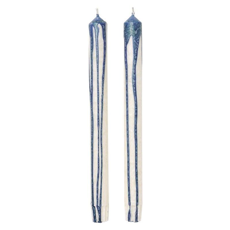 Ferm Living Duo candle, 2 pcs, dark blue