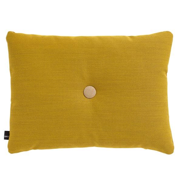 Hay Dot cushion, Steelcut Trio, golden yellow