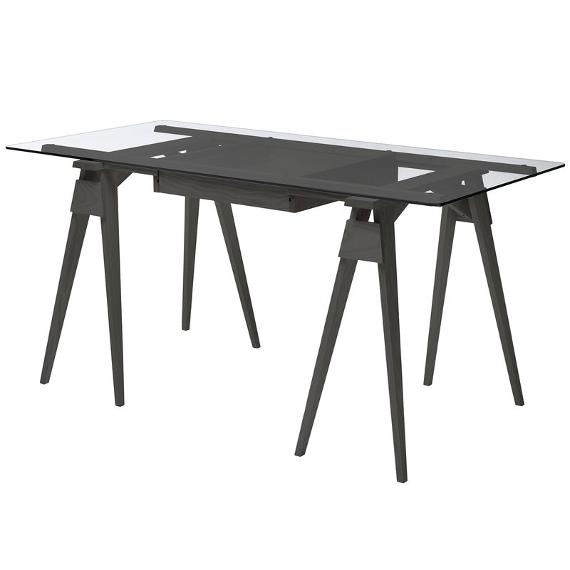 Design House Stockholm Arco desk with drawer, black