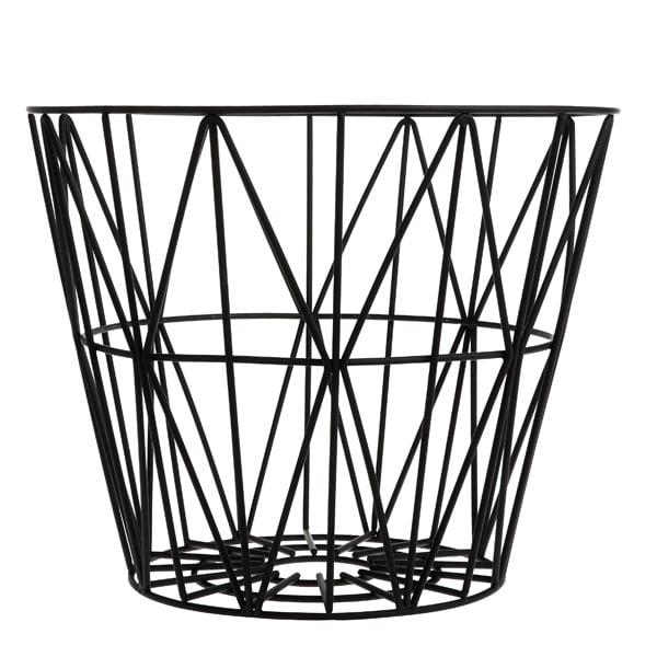 Ferm Living Wire kori, musta
