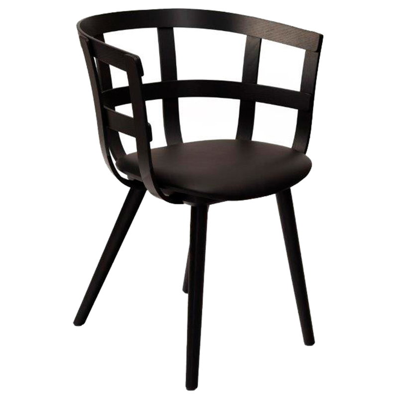 Inno Julie chair, black stained ash - black leather
