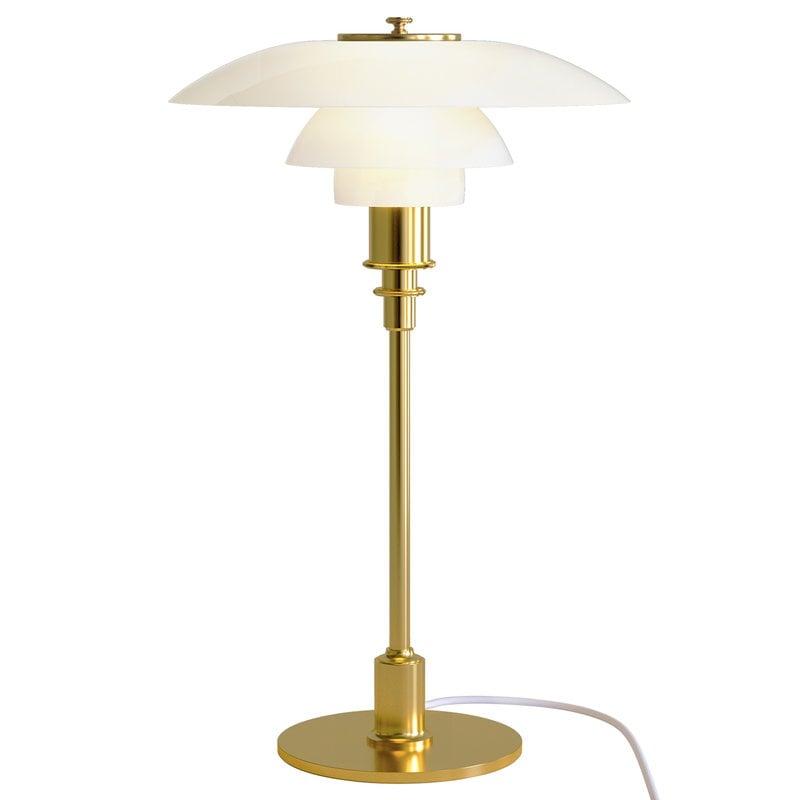 Louis Poulsen Lampada da tavolo PH 3/2, ottone metallizzato