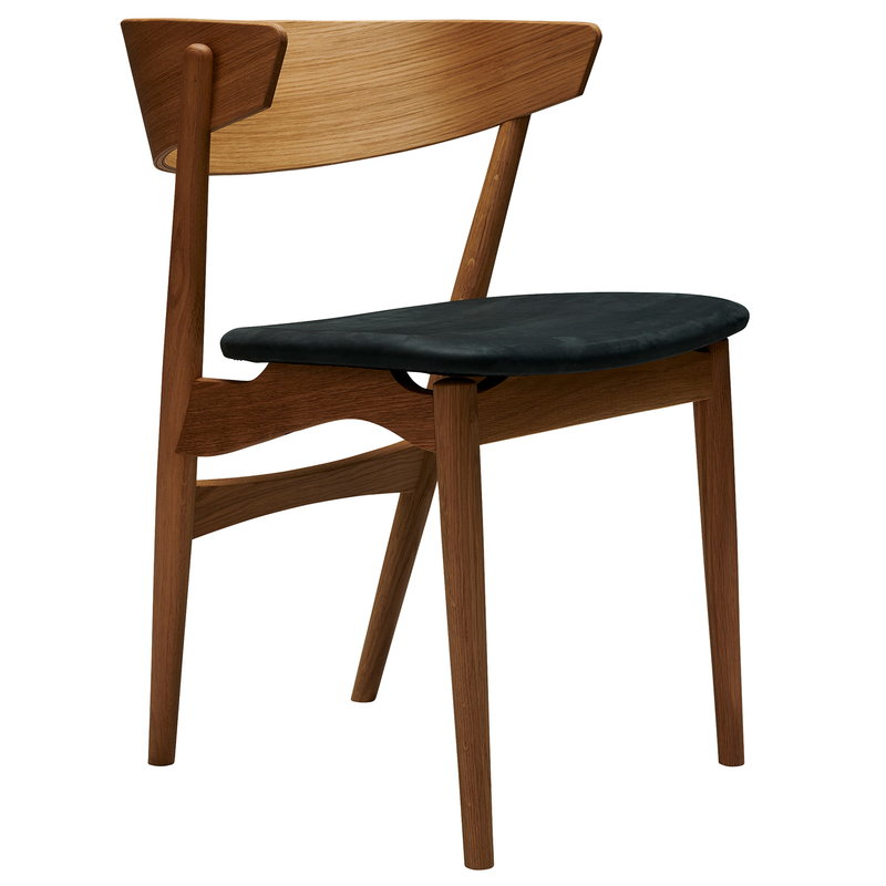 Sibast No 7 tuoli, tammi - antrasiitti nahka