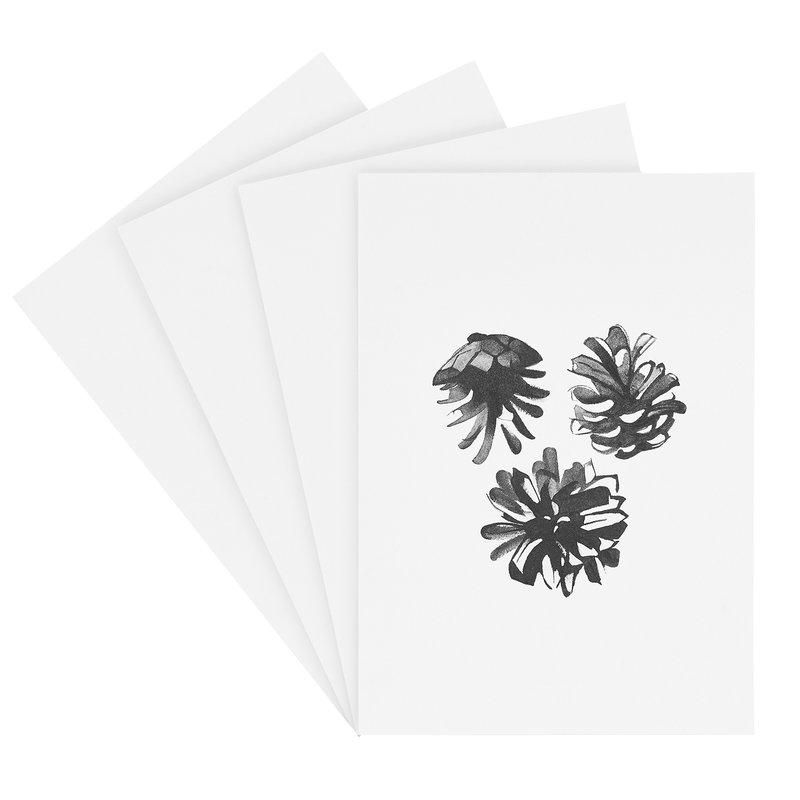 Teemu Järvi Illustrations Havupuu taidekorttisetti 4 kpl