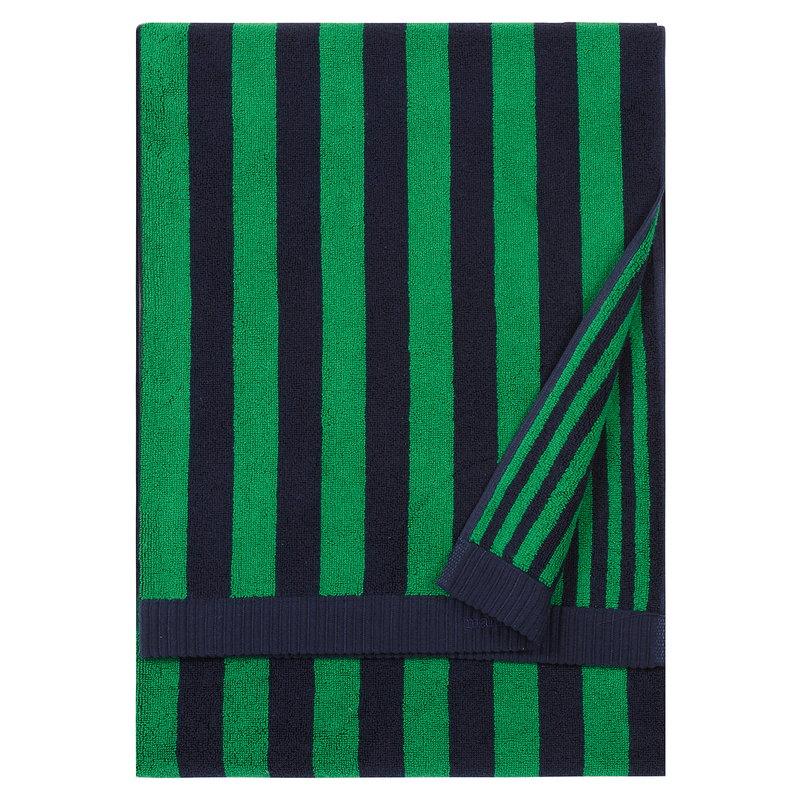Marimekko Kaksi Raitaa kylpypyyhe, tummansininen - vihreä