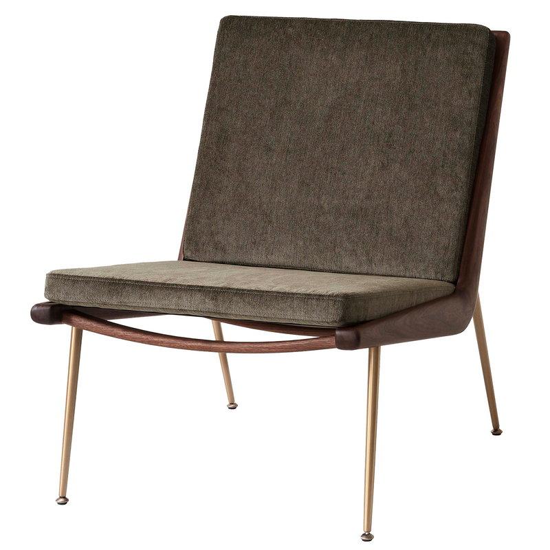 &Tradition Boomerang HM1 lounge chair, Duke 004 - oiled walnut