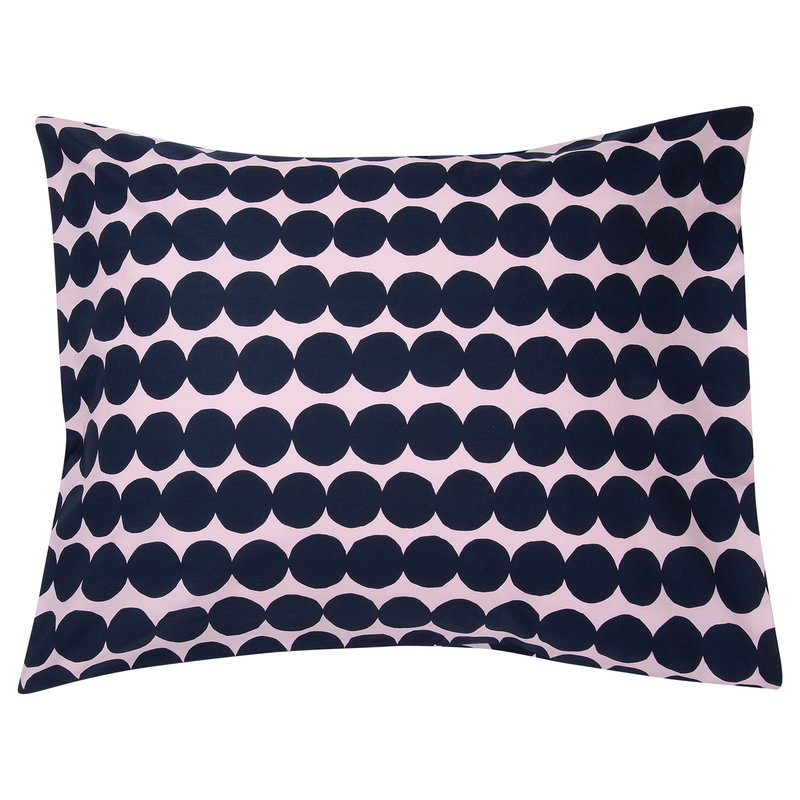 Marimekko Räsymatto pillowcase, pink - dark blue