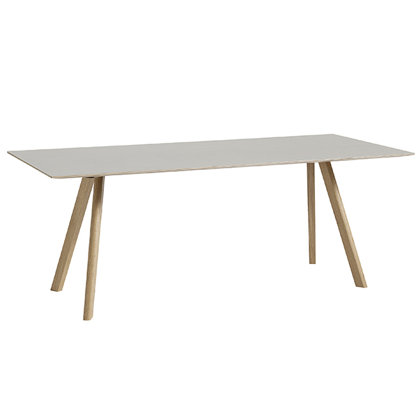 Hay CPH30 table 200x90 cm, soaped oak - off white lino