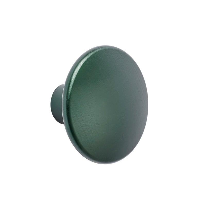 Muuto Dots Metal coat hook, dark green