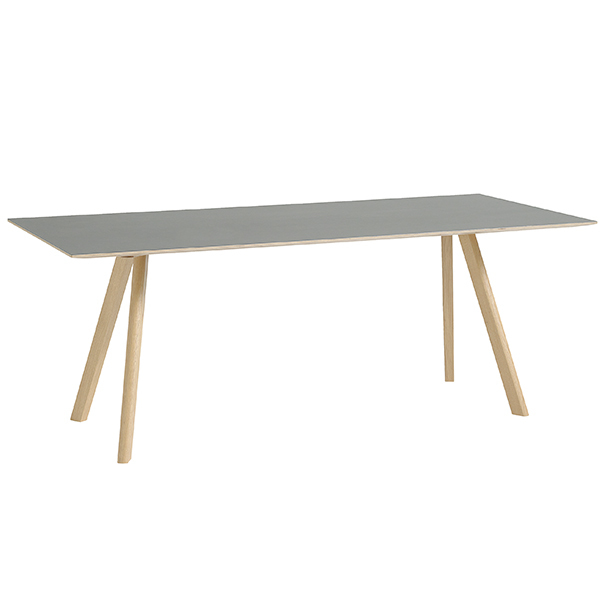 Hay CPH30 table 200x90 cm, matt lacquered oak - grey lino