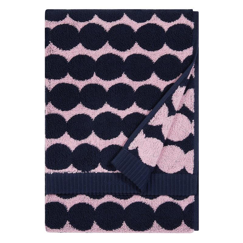 Marimekko Räsymatto hand towel, pink - dark blue