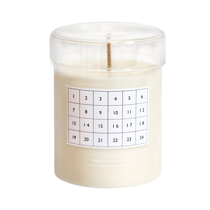 Ferm Living Scented candle Christmas calendar, white