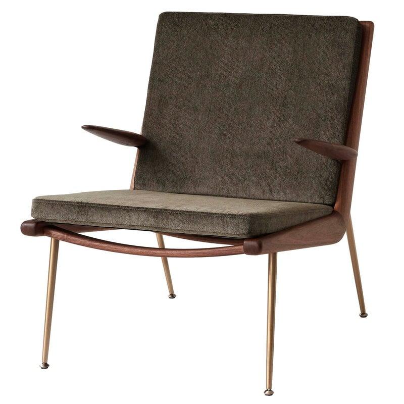 &Tradition Boomerang HM2 lounge chair, Duke 004 - oiled walnut