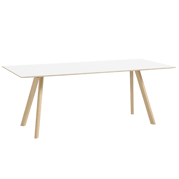 Hay CPH30 table 200x90cm, matt lacquered oak - white laminate