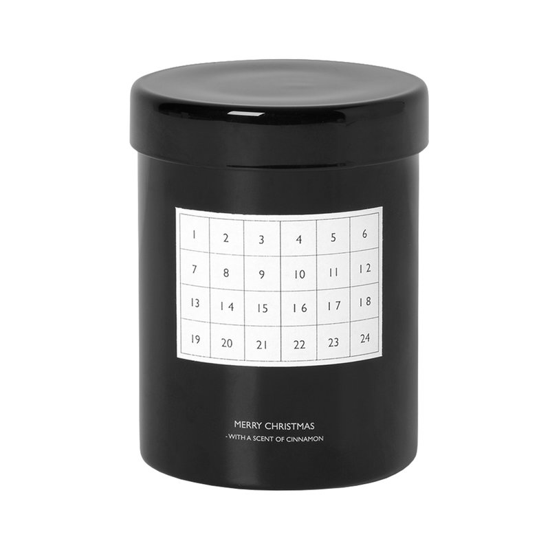 Ferm Living Scented candle Christmas calendar, black