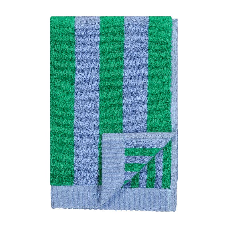 Marimekko Kaksi Raitaa guest towel, light blue - green