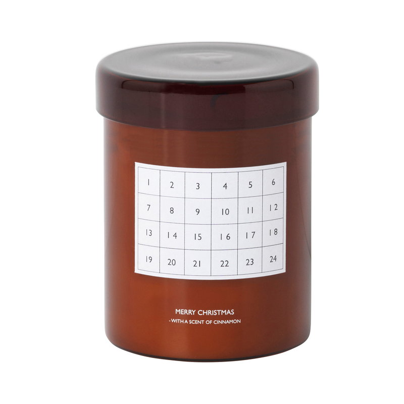 Ferm Living Scented candle Christmas calendar, red brown