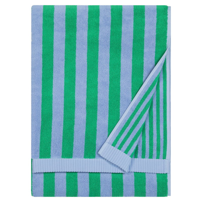 Marimekko Kaksi Raitaa bath towel,  light blue - green