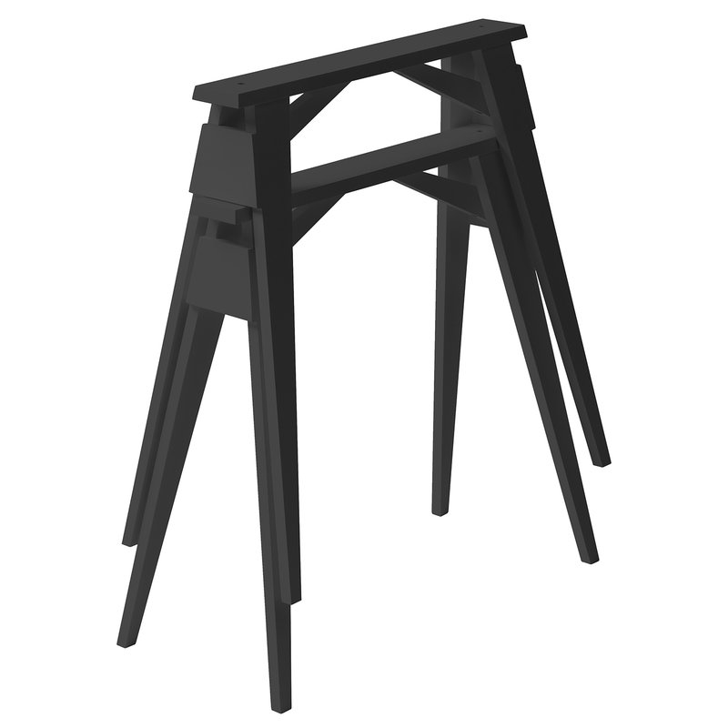 Design House Stockholm Gambe a cavalletto Arco, 2 pz, nere