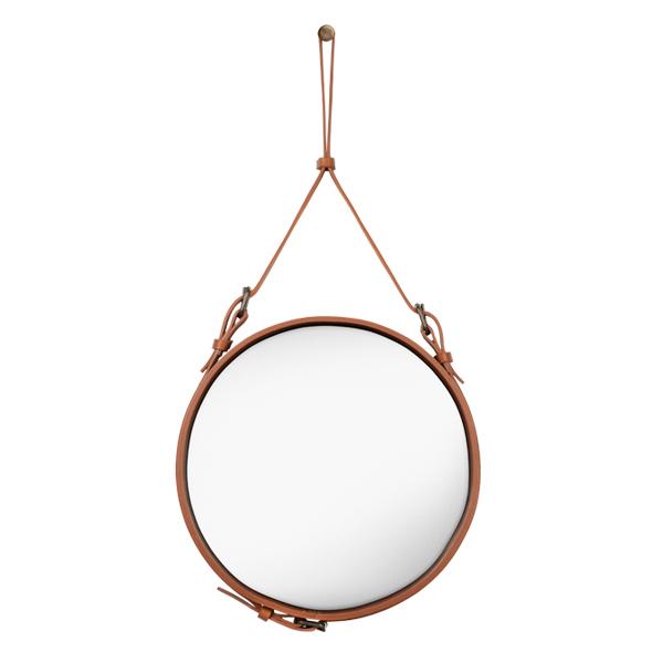 Gubi Adnet mirror S, tan