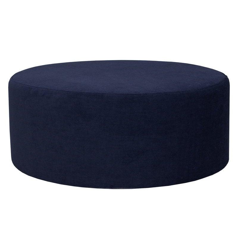 Hakola Moon pouf, large, Soft dark blue