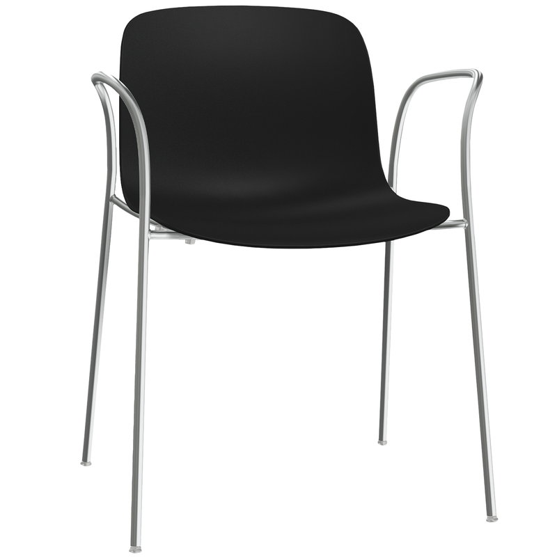 Magis Troy chair with arms, black - chrome