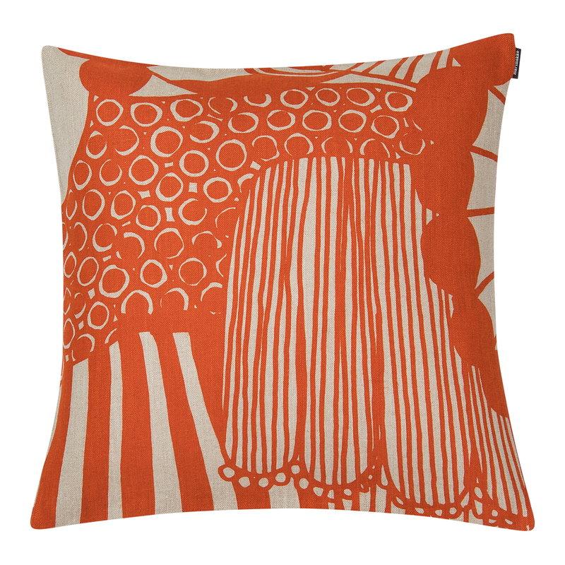 Marimekko Siirtolapuutarha tyynynpäällinen 40 x 40 cm, pellava-oranssi