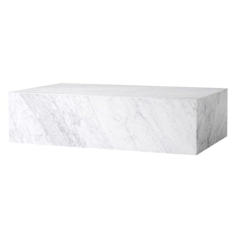 Menu Plinth pöytä, matala, valkoinen Carrara marmori