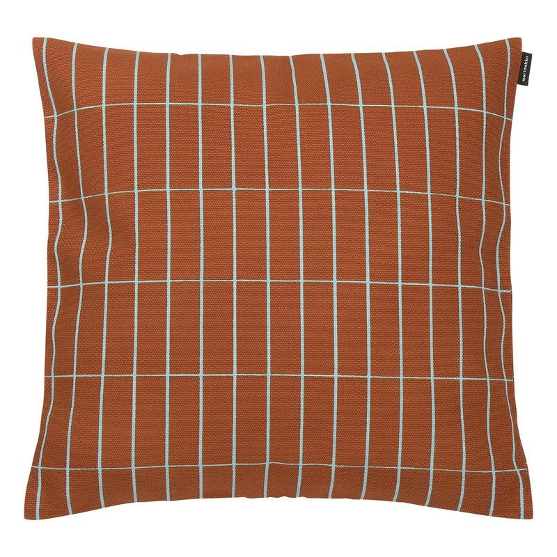 Marimekko Pieni Tiiliskivi cushion cover, 40 x 40 cm, reddish brown - turq
