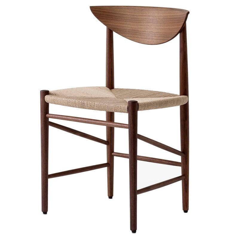 &Tradition Drawn HM3 chair, oiled walnut