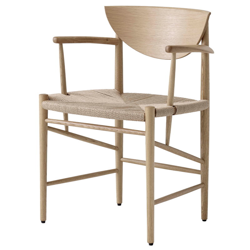 &Tradition Drawn HM4 chair, white oiled oak