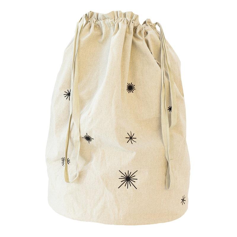 Ferm Living Star Christmas bag, sand