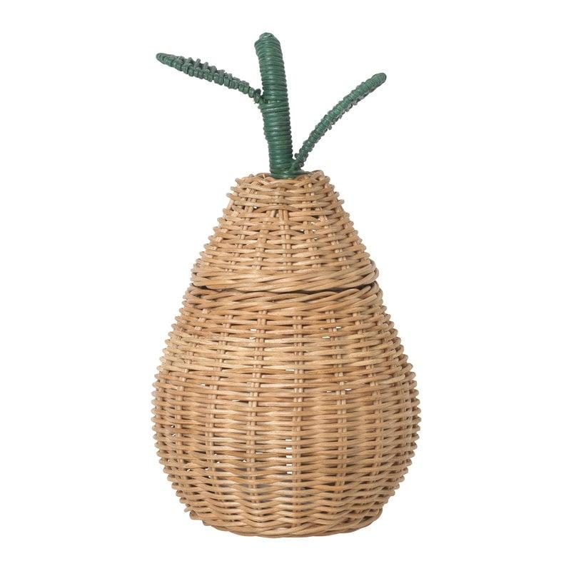 Ferm Living Small Pear punottu kori