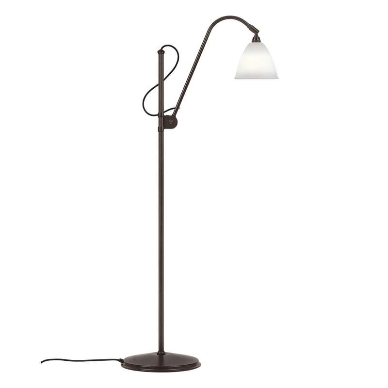Gubi Bestlite BL3 floor lamp, S, black brass - bone china