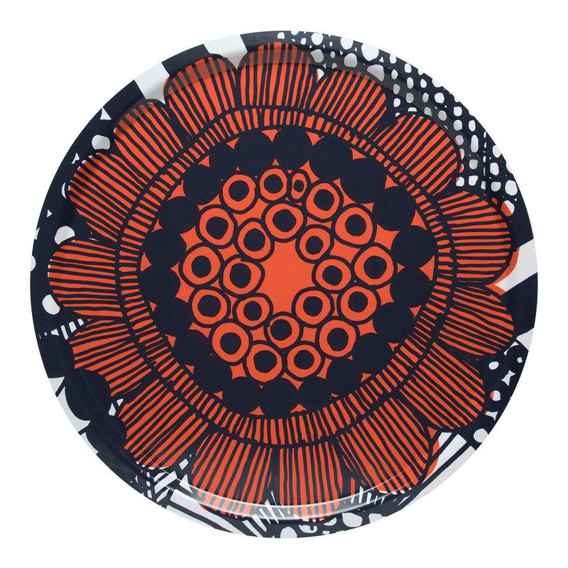 Marimekko Siirtolapuutarha tray, white-red-dark blue