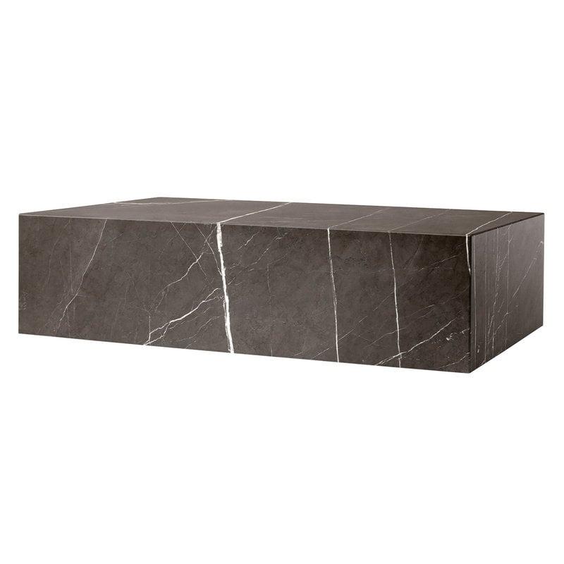 Menu Plinth pöytä, matala, ruskea Kendzo marmori