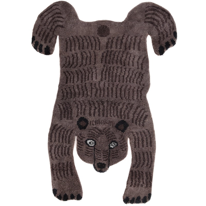 MUM's Tappeto Bear, marrone scuro