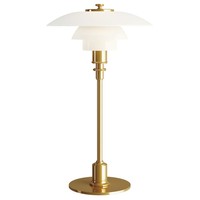 Louis Poulsen PH 2/1 table lamp, metallised brass