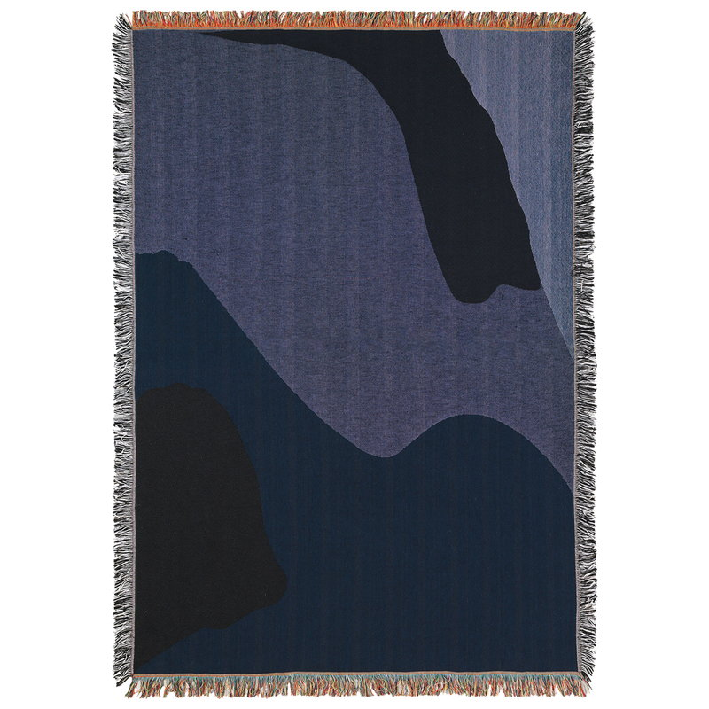 Ferm Living Vista blanket, dark blue