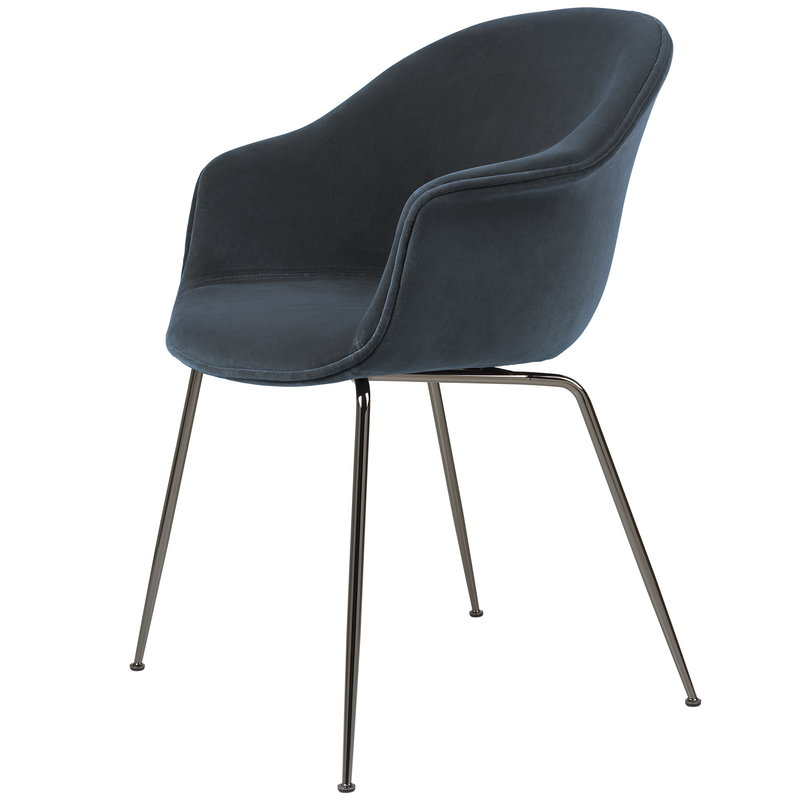 Gubi Bat tuoli, Ritz 0408 - mustat kromijalat