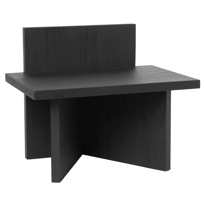 Ferm Living Oblique stool, black stained ash
