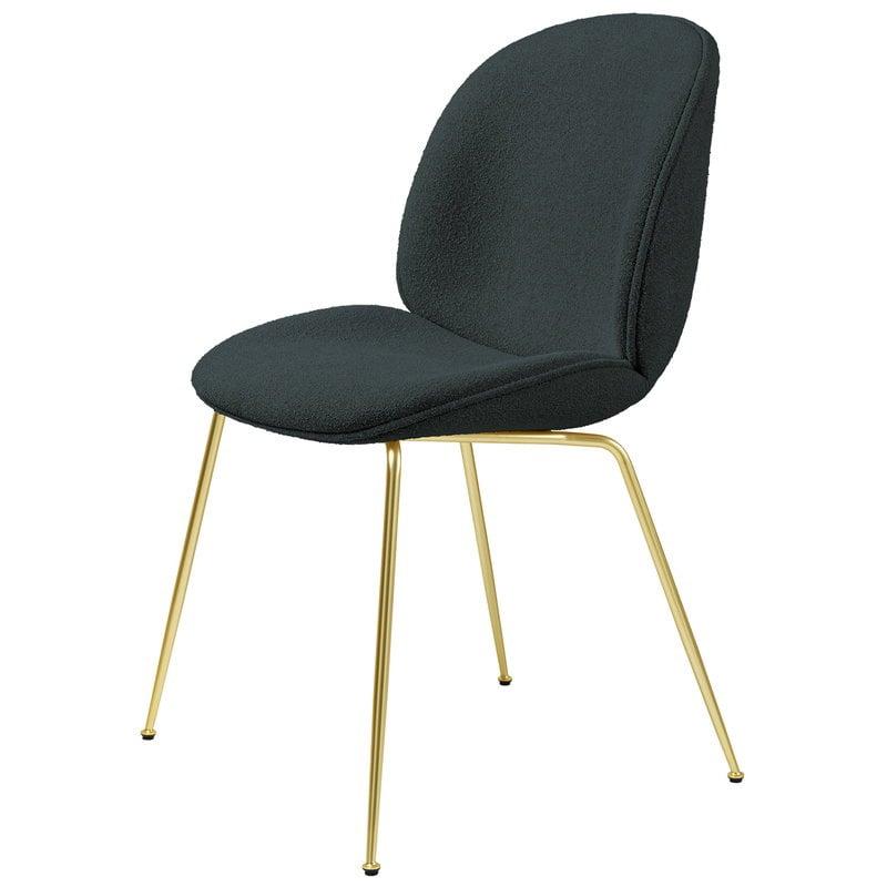 Gubi Beetle tuoli, messinki - Light Boucle 28