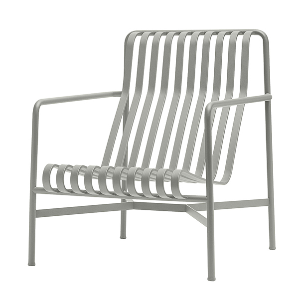 Hay Palissade lounge chair, high, light grey