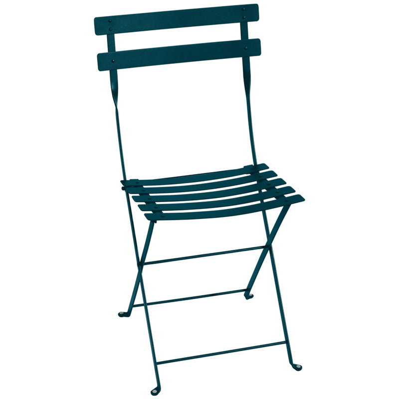 Stupendous Bistro Metal Chair Acapulco Blue Camellatalisay Diy Chair Ideas Camellatalisaycom