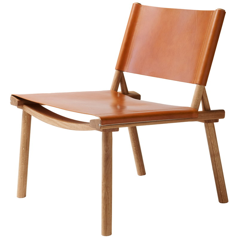 Nikari December chair, oak - cognac leather