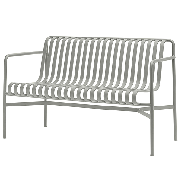 Hay Palissade dining bench, light grey