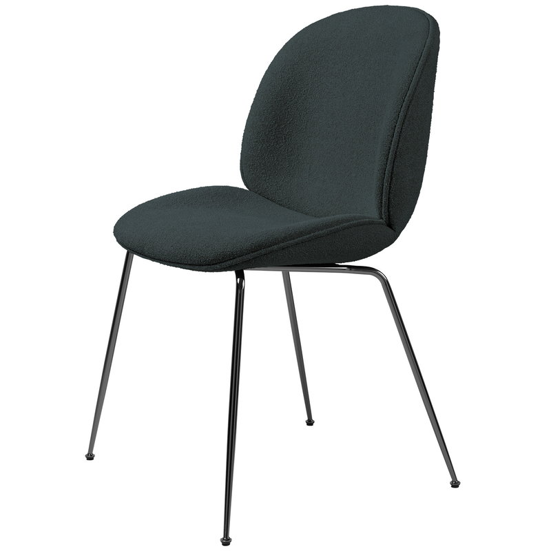 Gubi Beetle chair, black chrome - Light Boucle 28